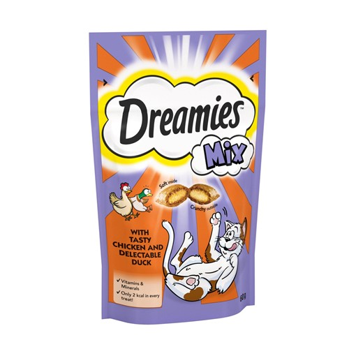 Picture of Dreamies Adult 1+ Cat Treats Mixed with Chicken and Duck 60g