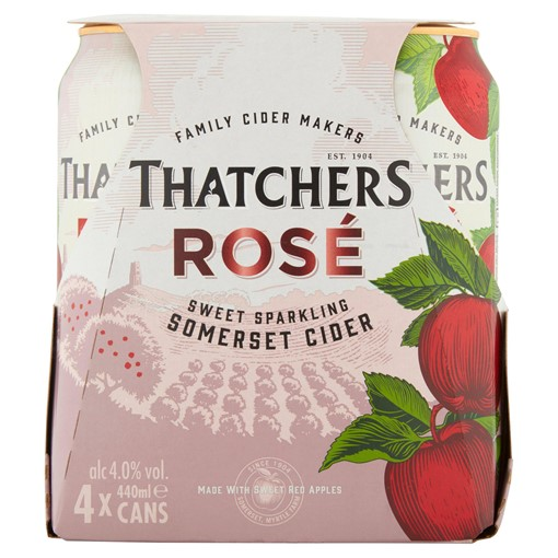 Picture of Thatchers Rosé Cider 4 x 440ml