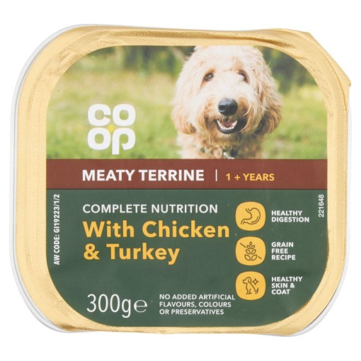 Picture of Co Op Meaty Terrine with Chicken & Turkey + 1 Year 300g