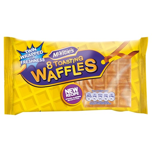 Picture of McVitie's 8 Toasting Waffles 200g