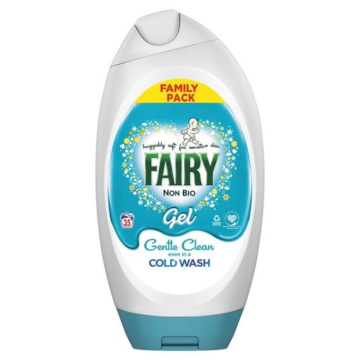 Picture of Fairy Non Bio Washing Liquid Gel 1.406L 38 Washes, Voted #1 for Sensitive Skin