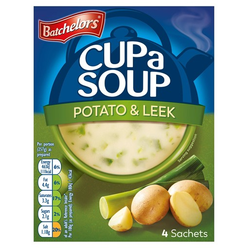 Picture of Batchelors Cup a Soup Potato & Leek 4 Pack 107g