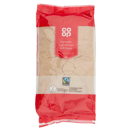 Picture of Co-op Fairtrade Light Brown Soft Sugar 500g