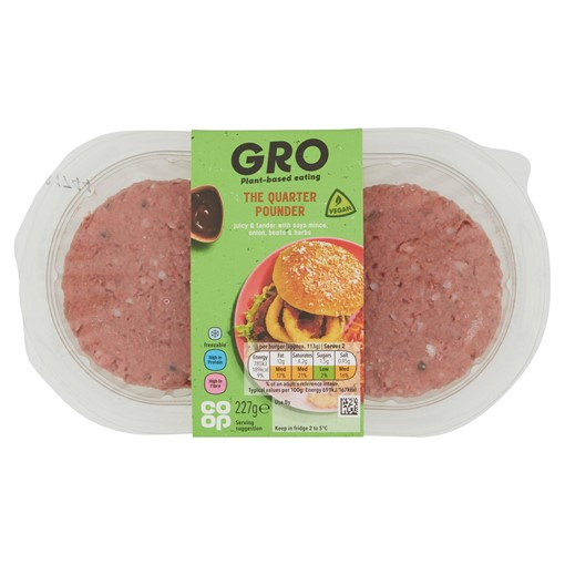 Picture of Co-op GRO The Quarter Pounder 227g