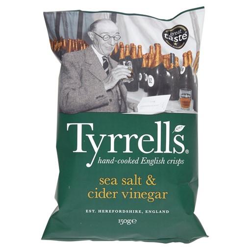 Picture of Tyrrells Hand-Cooked English Crisps Sea Salt & Cider Vinegar 150g