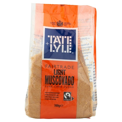 Picture of Tate & Lyle Fairtrade Light Muscovado Cane Sugar 500g