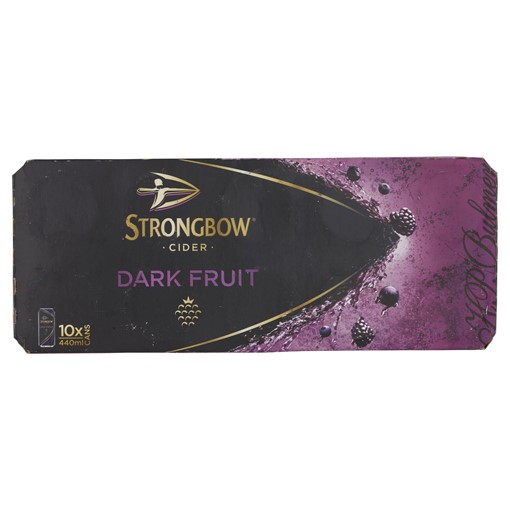 Picture of Strongbow Dark Fruit Cider 10 x 440ml Cans