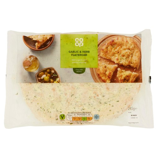Picture of Co-op Garlic & Herb Flatbread 245g