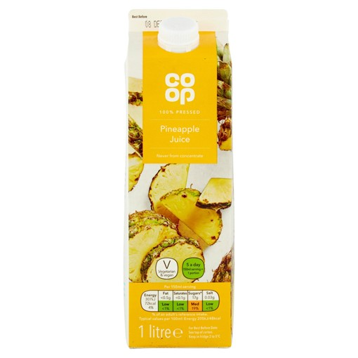 Picture of Co Op Pure Pineapple Juice 1 Litre