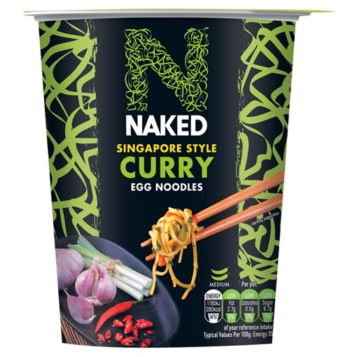 Picture of Naked Singapore Style Curry Egg Noodles 78g