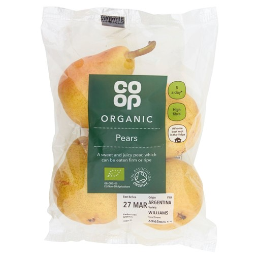 Picture of The Co-operative Loved by Us Organic Fruit Pears