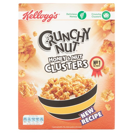 Picture of Kellogg's Crunchy Nut Honey & Nut Clusters Cereal 450g