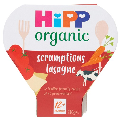 Picture of HiPP Organic Scrumptious Lasagne Toddler Tray Meal 1-3 Years 230g