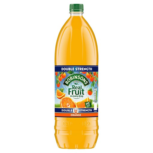 Picture of Robinsons Double Strength Orange No Added Sugar Fruit Squash 1.75L