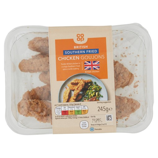 Picture of Co-op British Southern Fried Chicken Goujons 245g