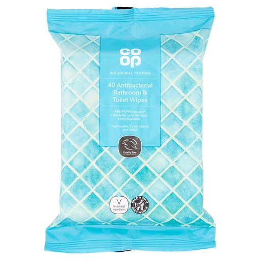 Picture of Co-op 40 Antibacterial Bathroom & Toilet Wipes