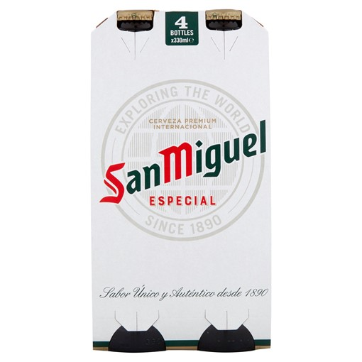Picture of San Miguel Premium Lager Beer 4 x 330ml