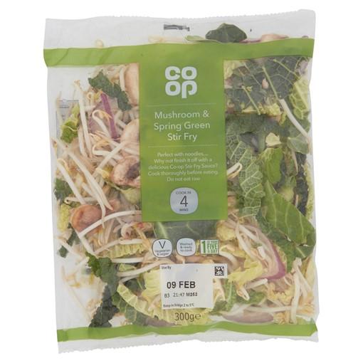 Picture of Co-op Mushroom & Spring Green Stir Fry 300g
