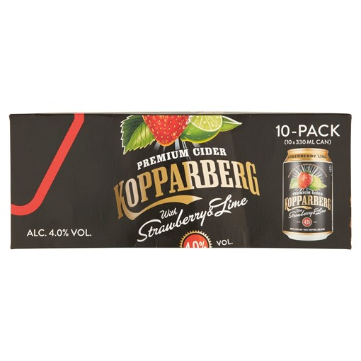 Picture of Kopparberg Premium Cider with Strawberry & Lime 10 x 330ml