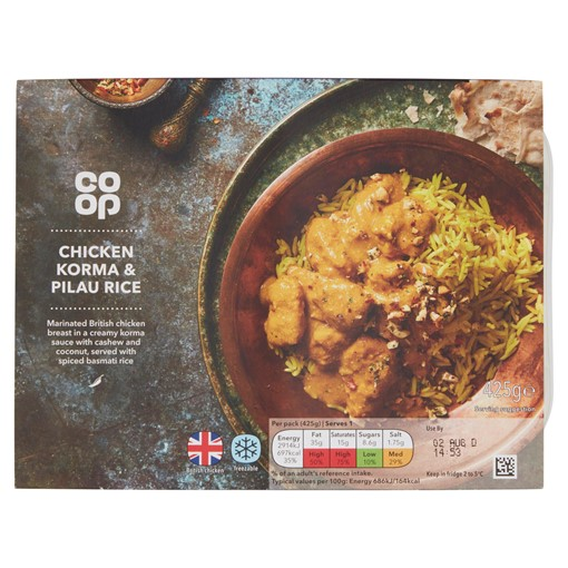 Picture of Co-op Chicken Korma & Pilau Rice 425g