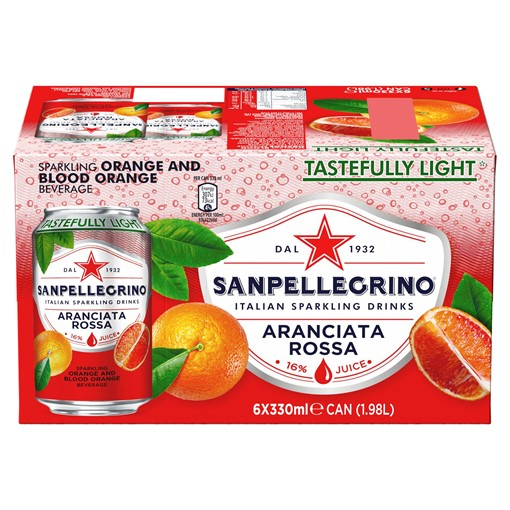 Picture of San Pellegrino Blood Orange 6x330ml
