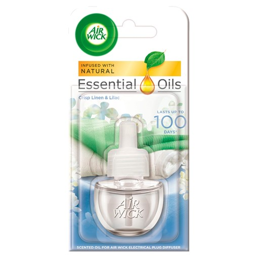 Picture of Air Wick Essential Oils Plug Diffuser Crisp Linen & Lilac 19ml