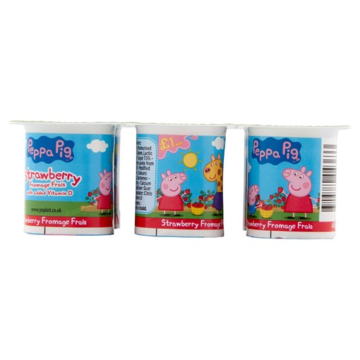 Picture of Peppa Pig Strawberry Fromage Frais 6 x 45g (270g)