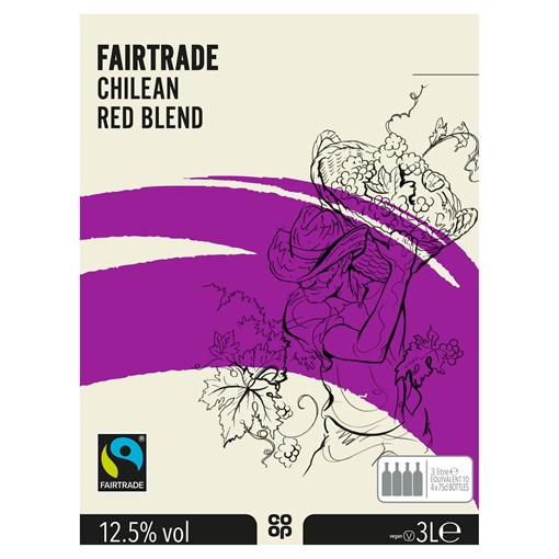 Picture of Co-op Fairtrade Chilean Red Blend 3L