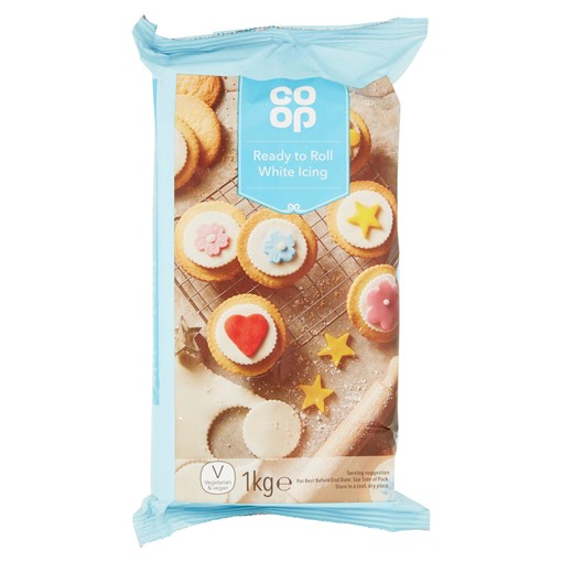 Picture of Co Op Ready to Roll White Icing 1kg