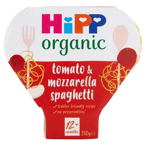 Picture of HiPP Organic Tomato & Mozzarella Spaghetti Toddler Tray Meal 1-3 Years 230g