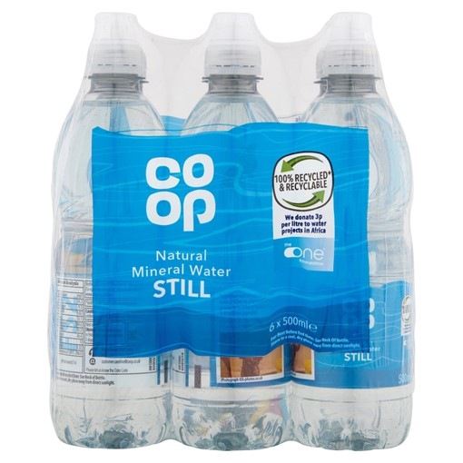 Picture of Co-op Natural Mineral Water Still 6 x 500ml