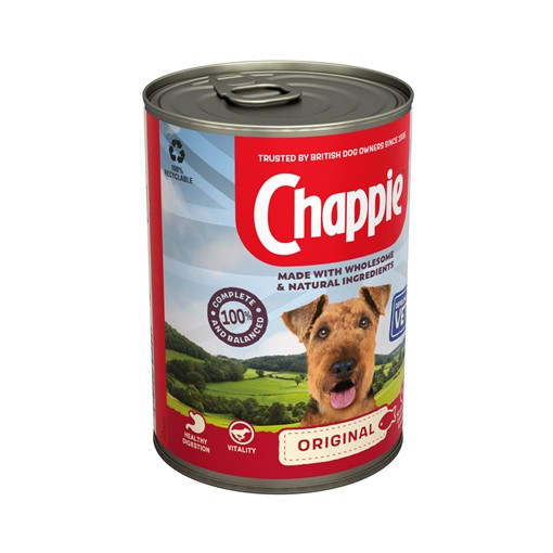 Picture of Chappie Wet Dog Food Tin Original in Loaf 412g