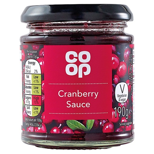 Picture of Co Op Cranberry Sauce 190g
