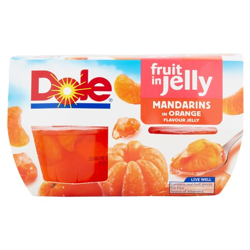 Picture of Dole Fruit in Jelly Mandarins in Orange Flavour Jelly 4 x 123g (492g)