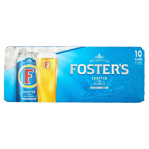 Picture of Foster's Lager Beer 10 x 440ml Cans