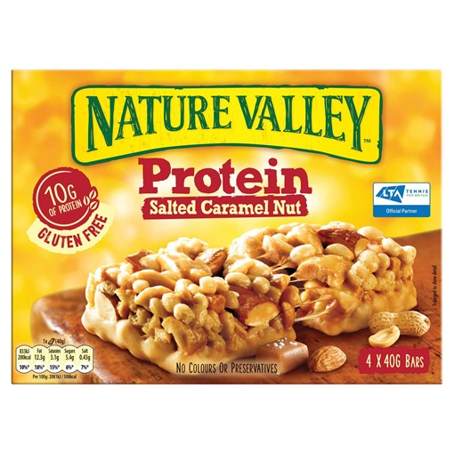 Picture of Nature Valley Protein Salted Caramel Nut Cereal Bars 4 x 40g