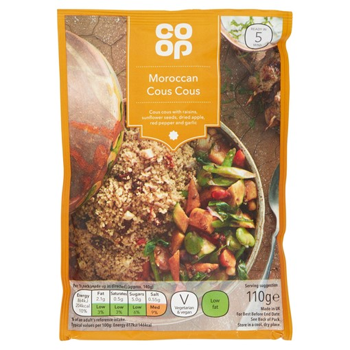 Picture of Co Op Moroccan Cous Cous 110g
