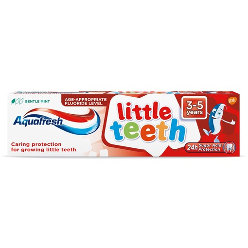 Picture of Aquafresh Kids Toothpaste, Little Teeth 3-5 Years 75ml