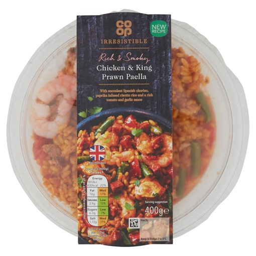 Picture of Co-op Irresistible Chicken & King Prawn Paella 400g