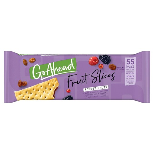 Picture of Go Ahead! Crispy Slices Forest Fruit Biscuits Bars 6 Pack (262g)