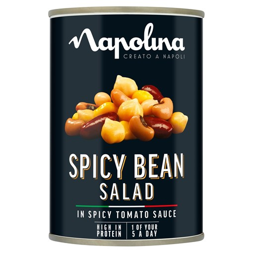 Picture of Napolina Spicy Bean Salad in Spicy Tomato Sauce 400g