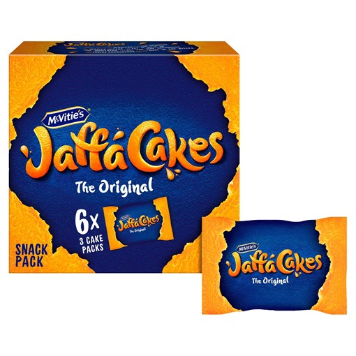 Picture of McVitie's Jaffa Cakes Original Snack Packs Biscuits 6xPacks of 3