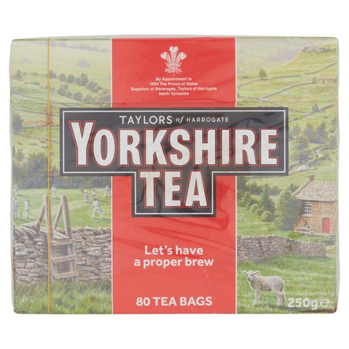 Picture of Taylors of Harrogate Yorkshire Tea 80 Tea Bags 250g
