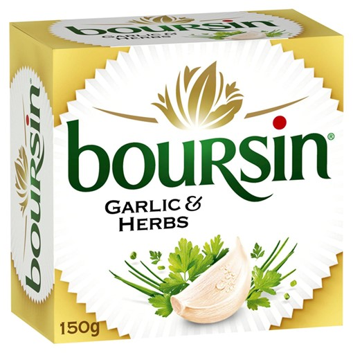 Picture of Boursin Garlic & Herbs Soft French Cheese 150g