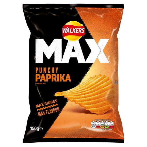 Picture of Walkers Max Punchy Paprika Sharing Crisps 150g