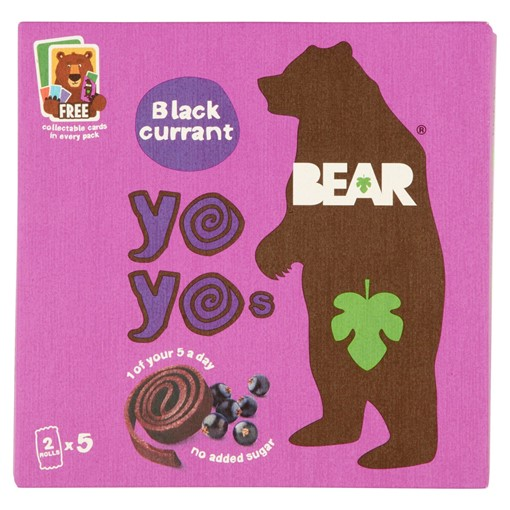 Picture of BEAR Blackcurrant Yoyos Multipack 5 x 20g
