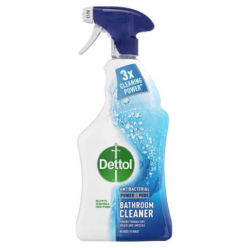 Picture of Dettol Power & Pure Antibacterial Disinfectant Bathroom Cleaning Spray 1000ml