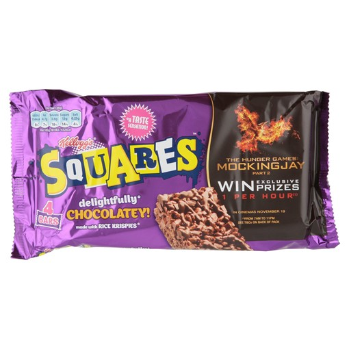 Picture of Kellogg's Rice Krispies Squares Totally Chocolatey Snack Bar, 36g (Pack of 4)