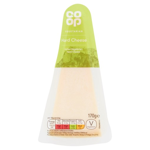 Picture of Co-op Italian Vegetarian Hard Cheese 170g