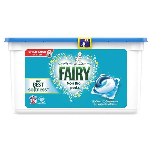 Picture of Fairy Non Bio Pods Washing Liquid Capsules 36 Washes